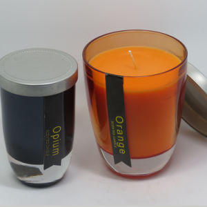 Wholesale Luxury Scented Bougie Jar Glass Candle with Metal Lid pictures & photos