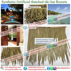 Synthetic Palapa Thatch Tiki Bar/Tiki Hut Synthetic Thatched Cottage Water Bungalow Beach Umbrella pictures & photos