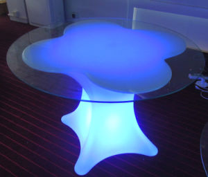 Waterproof Furniture LED Table with Glass (G001) pictures & photos