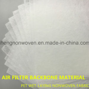 Pet Wet-Laying Nonwoven Fabric Coarse Filter Media pictures & photos