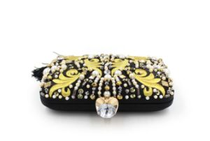 Women Sude Pearls Evening Bags Crystal Party Clutches Bag (LD-3029) pictures & photos