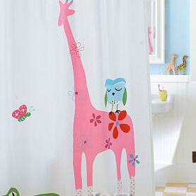 Cartoon Pattern Polyester Shower Curtain pictures & photos