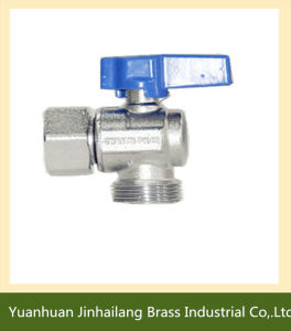 China Factory Supplier Full Port Brass Angle Ball Valve with T Handle