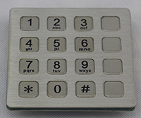 Customized Metallic Keypad
