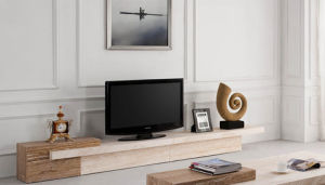 Modern Natural Travertine Marble TV Cabinet D3315