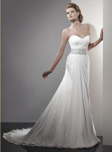China Slim Style Simple Heart Shape Bust Wedding Dress Wd 107