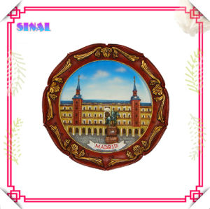 Polyresin Classic Scenery Plate Decoration Souvenir