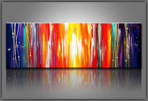 China Large Canvas Colourful Decorative Abstract Art Painting ...
