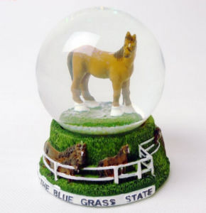Polyresin Horse Decoration Snow Globe Water Globe