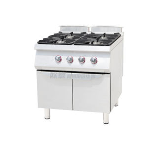 Commercial Kitchen Piezo Ignition Gas Cooking Range with Four Burners