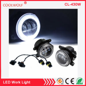 4 Inch 30w Cree Led Fog Lights White Halo Ring Angel Eyes For Jeep Wrangler