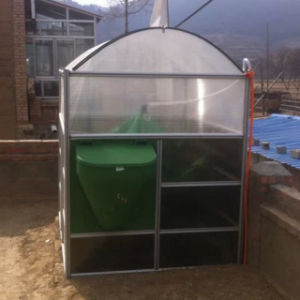 Biogas Plant Anaerobic Digester Converting Organic Waste Into Energy