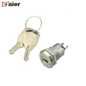 NO//NC Type ON-OFF 2 Position Security Key Lock Rotary Switch