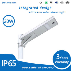 Factory Price 20W LED Outdoor Integrated Solar Lamp All in One Solar Street Light