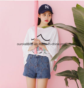 Women′s Fashion T Shirt Round Neck Short Sleeve T Shirt Wholesale