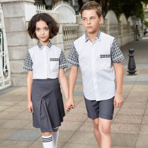Bulk Short Sleeve Green School Uniform Polo Shirt Design pictures & photos