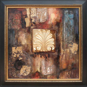 Abstract Oil Pianting With Frame (ADA9185) pictures & photos