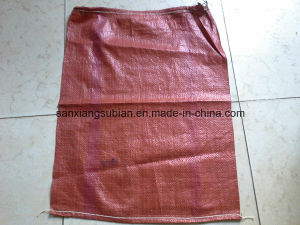 Red PP Woven Sack with String /Hot Sale PP Woven Bag for Korea