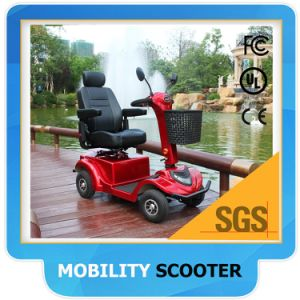 Four Wheel Electric Mobility Scooter with Shopping Basket for Adults for Disabled/Elderly/Adults pictures & photos