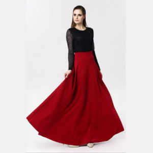 detailed look fashionable style 2019 discount sale Victoria A-Line Long Silk Space Cotton Skirt with Pleated for Women