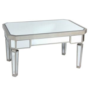 China Long Rectangular Modern Wood And Glass Coffee Table For Sale