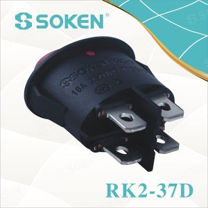 Oval Rocker Switch 4pin pictures & photos