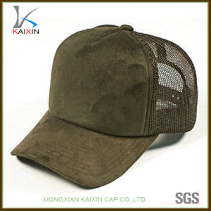 97f030d2 China Custom Plain Blank Suede Hat Trucker Mesh Cap - China Trucker ...