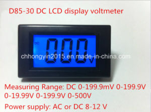 D85-30 DC LCD Display Digital Panel Voltmeter pictures & photos