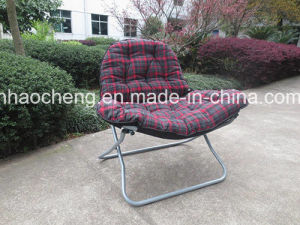 Outdoor Leisure Camping Moon Chair with Suede Fabric