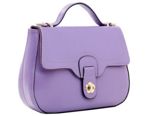 Spring Summer Latest Wax Paper Genuine Leather Shoulder Little Bag Lady′s Handbag