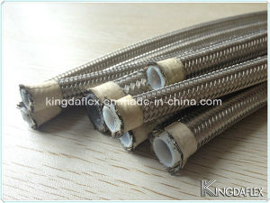1 Inch Food Grade Wire Braided Convuluted Teflon Hose pictures & photos