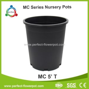 Gallon Round Black Plastic Nursery Pots Flower Pot Plants Container