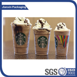 Clear Iced Plastic Coffee Cup with Lid pictures & photos