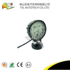 27W Round LED Spot Work Light for Auto Vehicles pictures & photos