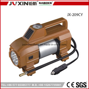 Fine Appearance Bright Light Tire Inflator / DC 12V Double Cylinder Car Mini Air Compressor