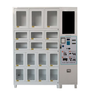 Cell Cabinet Sanitary Napkin Vending Machine with 17 Selections pictures & photos