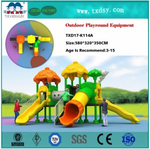 Preschool Outdoor Swing and Slide Equipment Sets for Children pictures & photos