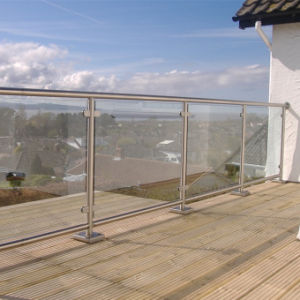 Stainless Steel Balcony Glass Railing Glass Clamp Balustrade pictures & photos