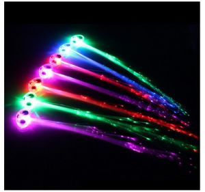 LED Lights Hair Light up Fiber Optic LED Hair Barrettes Party Favors for Party pictures & photos