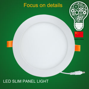 3W 4W 6W 12W 15W 18W 24W Round 18W Slim Panel LED Light with 3 Years Warranty