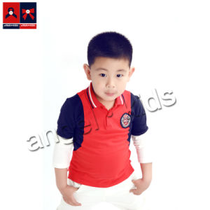 Boys Cotton Pique Long Sleeve Polo T-Shirt