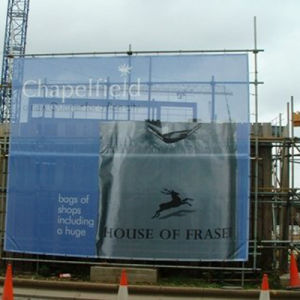 China wind resistant mesh banners fence wrap hoarding for Wind resistant material