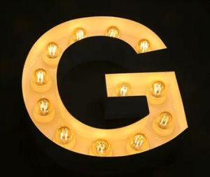 Wall Mounted Custom Advertising Marquee Letter Lights with LED Light Bulb pictures & photos
