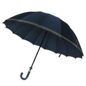 29inch 16panels Manual Open Fiberglass Golf Umbrella (GU028) pictures & photos