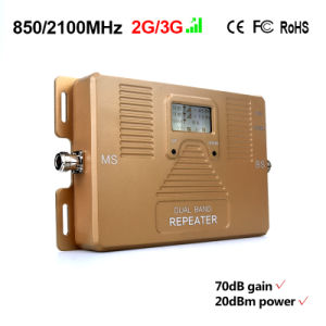 Dual Band 850/2100MHz Mobile Signal Booster 2g 3G Repeater pictures & photos