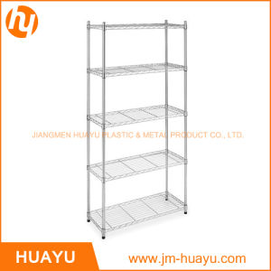 Five Tier Storage Rack Chrome Finish for Garage of Store pictures & photos