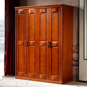 Home Furniture Solid Wooden Bedroom Wardrobe (GSP9-015) pictures & photos