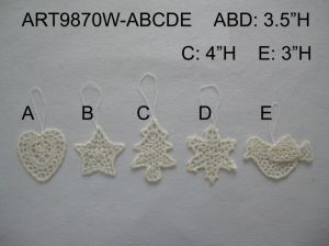 Sage Crochet Christmas Tree Decoration Ornament Gift, 5assts pictures & photos