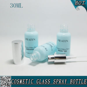 30ml Cosmetic Glass Spray Bottle with Shinny Silver Mist Sprayer pictures & photos