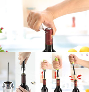 Red Wine Opener Popper Bottle Air Pressure Kitchen Pumps Corkscrew Cork Out Tool
